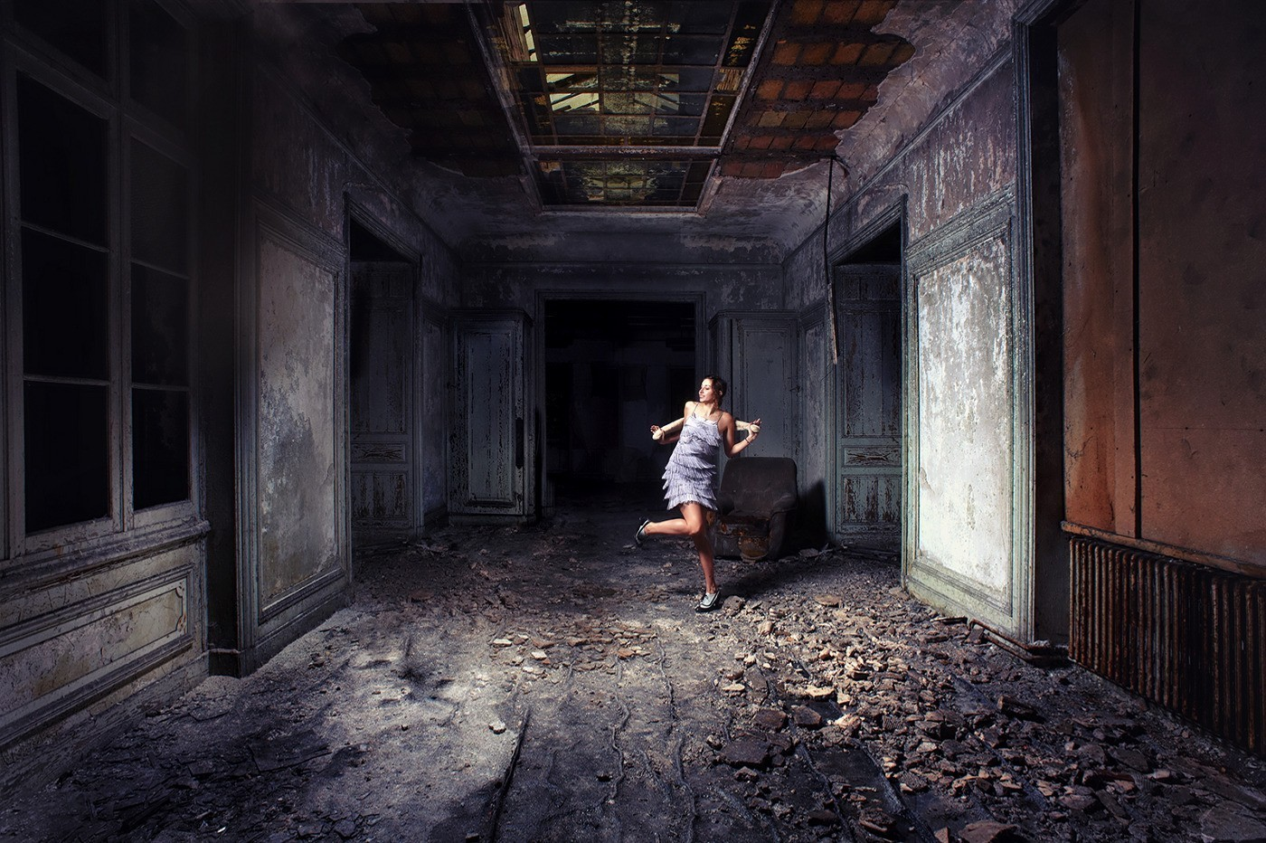 Dancing on the decay of the world